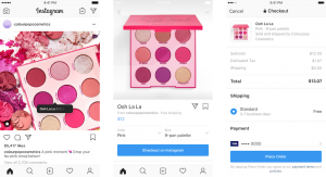instagram introducing product checkout
