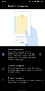 Android 10 gesture navigation system