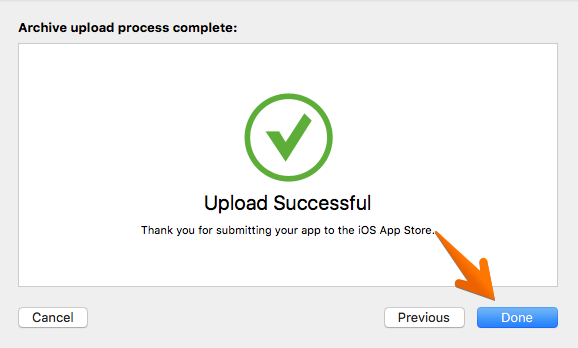 app store app upload success