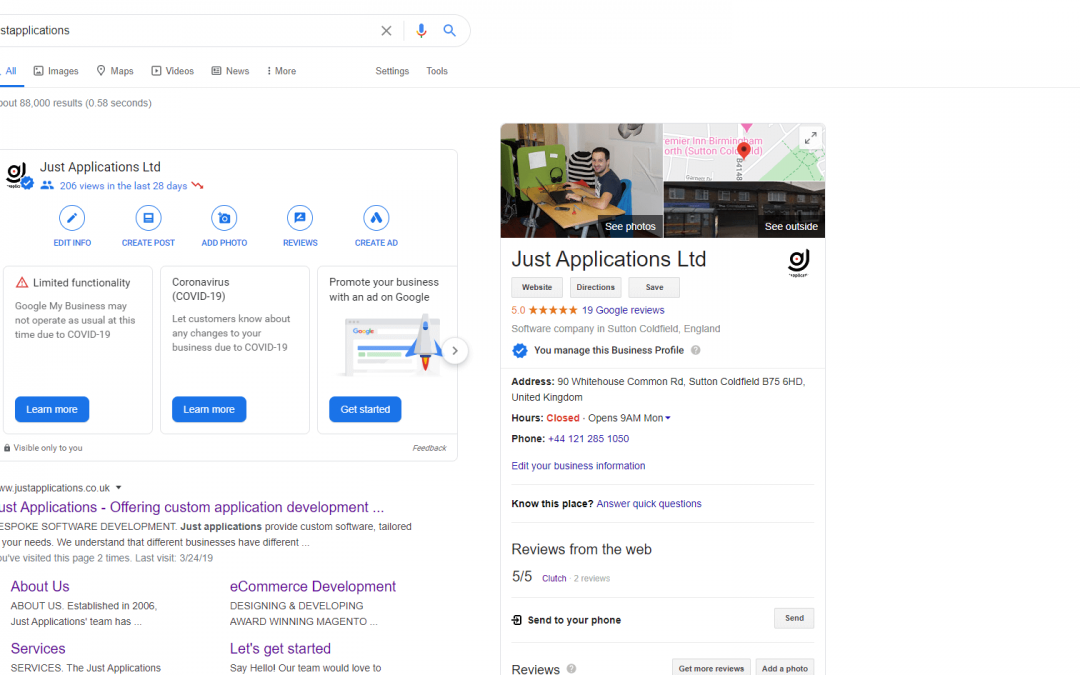 Optimising your Google Business page