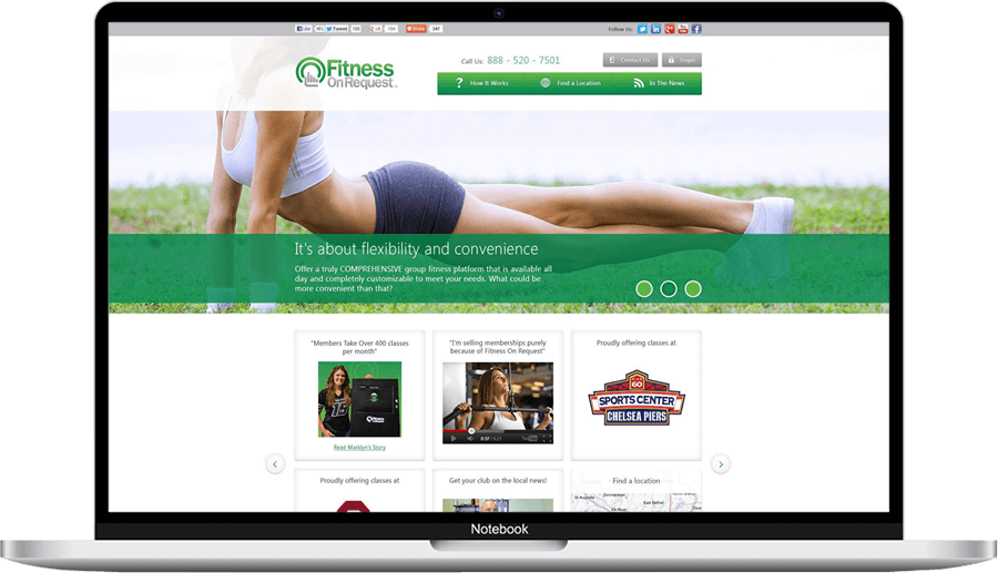 Fitness on request website